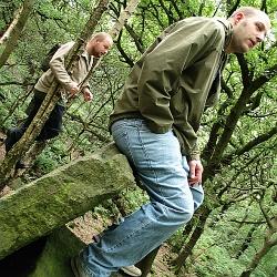 Gianni and John in Hawkworth Wood