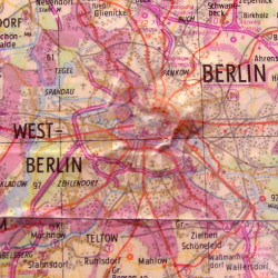 Berlin - from the map in the main meeting room of the former Stasi HQ