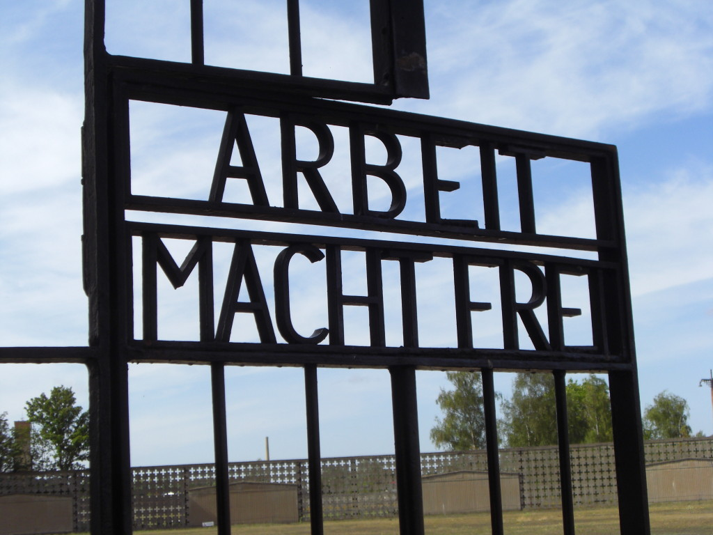 the gates of sachsenhausen concentration camp memorial