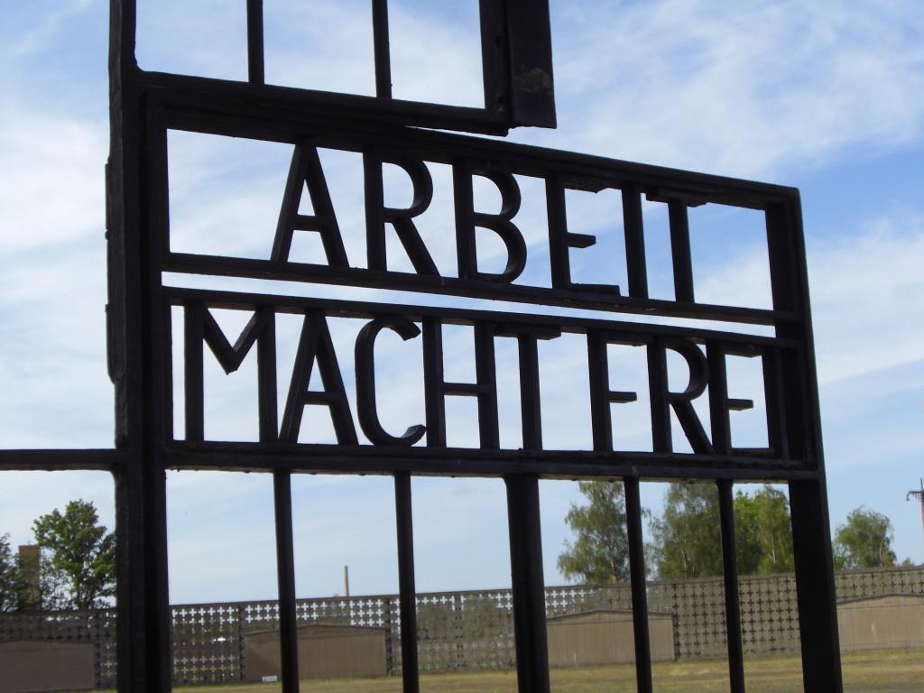 the gates of sachsenhausen concentration camp memorial