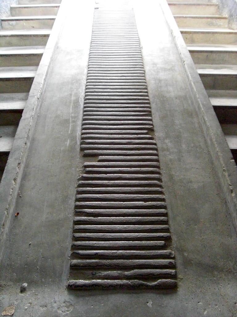 mortuary ramp at sachsenhausen memorial camp